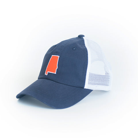 Alabama Auburn Gameday Trucker Hat Navy