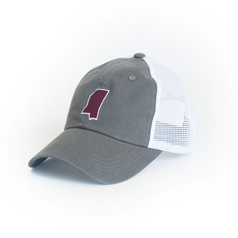 Mississippi Starkville Gameday Trucker Hat Grey