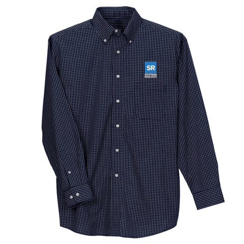 Southern Research Men's McDowell Woven Navy/White