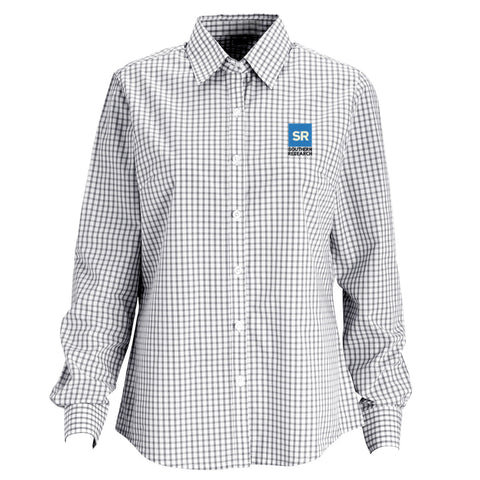 Southern Research Women's Gingham Check Button Down Grey