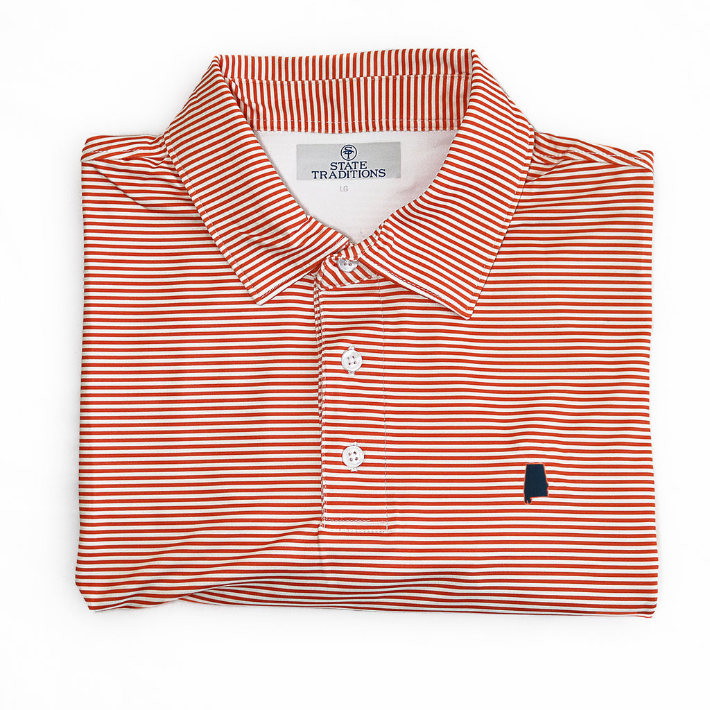 "Auburn Gameday ""Tips"" Polo Orange"