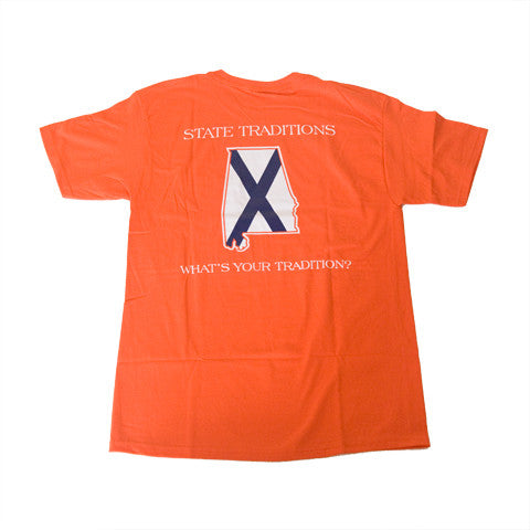 Alabama Auburn Traditional T-Shirt Orange