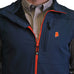 Alabama Auburn Soft Shell Vest Navy with Orange Trim