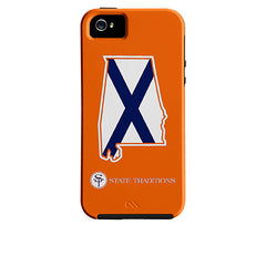 Alabama Auburn Traditional iPhone Case Orange