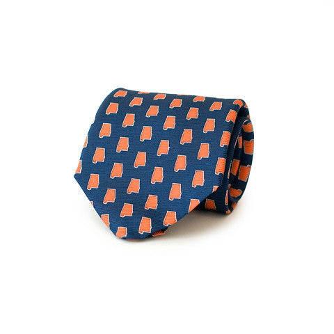 Alabama Auburn Gameday Tie Navy