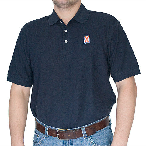 Alabama Auburn Traditional Polo Navy