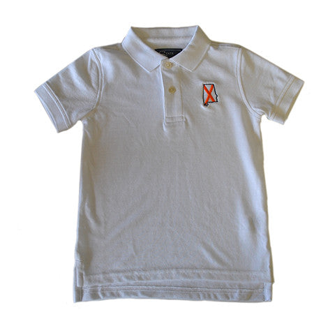 Alabama Auburn Traditional Youth Polo White