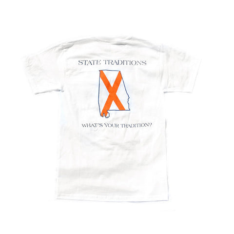 Alabama Auburn Traditional T-Shirt White