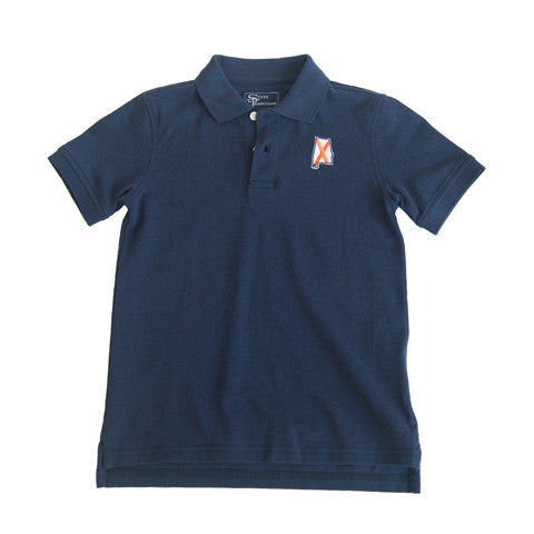 Alabama Auburn Traditional Youth Polo Navy