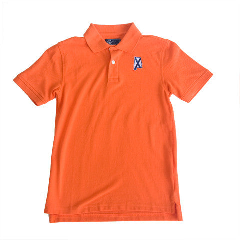 Alabama Auburn Traditional Youth Polo Orange
