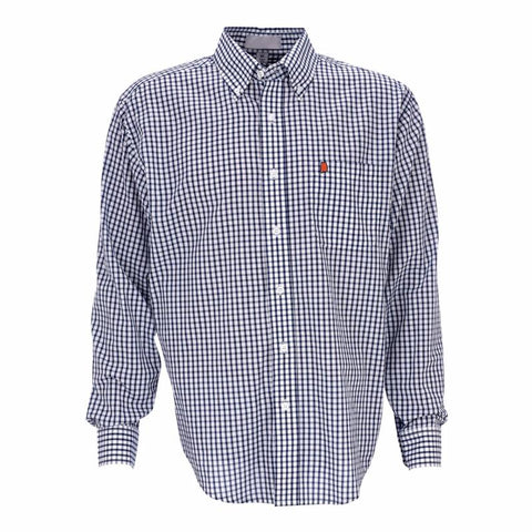 Alabama Auburn Gameday Pennington Woven Shirt Navy