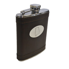 Alabama Leather Flask