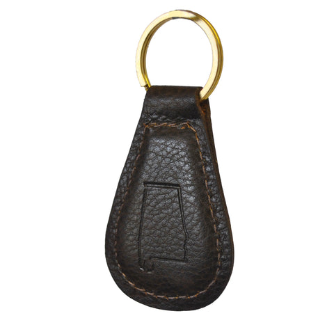 Alabama Leather Key Fob Bison