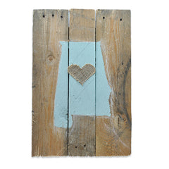 Alabama Love Reclaimed Wooden Pallet Art