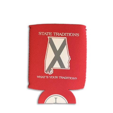 Alabama Traditional Koozie Crimson