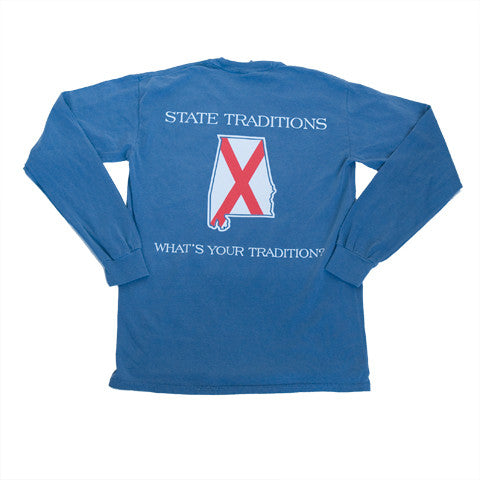 Alabama Traditional Long Sleeve T-Shirt Blue