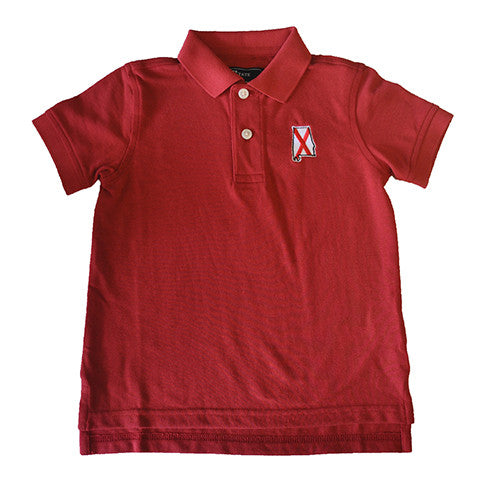 Alabama Traditional Youth Polo Crimson