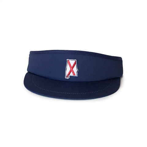 Alabama Traditional Golf Visor Navy