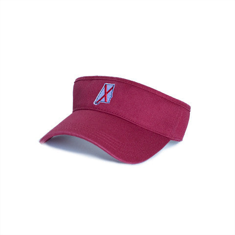 Alabama Traditional Hat Visor Crimson