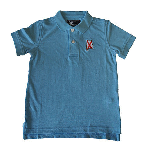 Alabama Traditional Youth Polo Light Blue