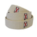 Alabama Traditional Embroidered Belt Natural
