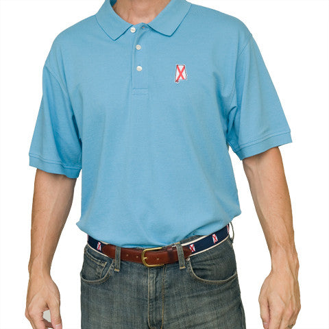 Alabama Traditional Polo Light Blue