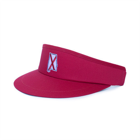 Alabama Traditional Golf Visor Crimson