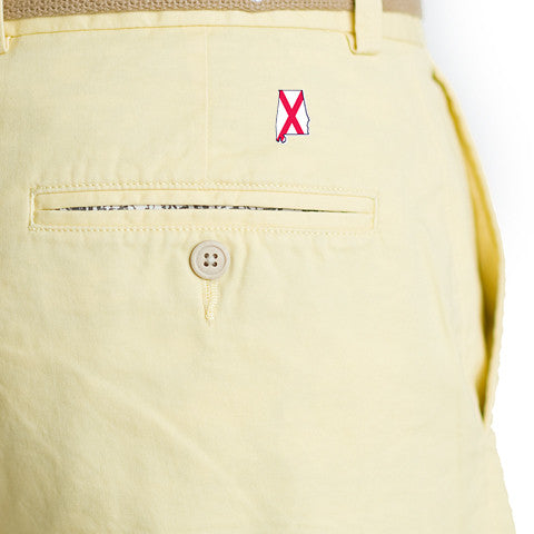 Alabama Traditional Coastline Shorts Yellow