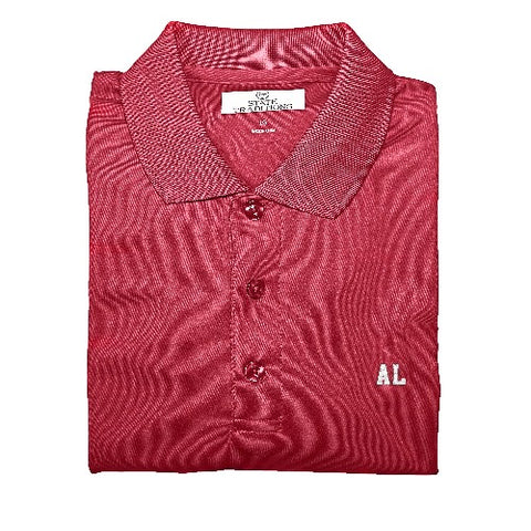 "Alabama ""AL"" State Letters Performance Polo"