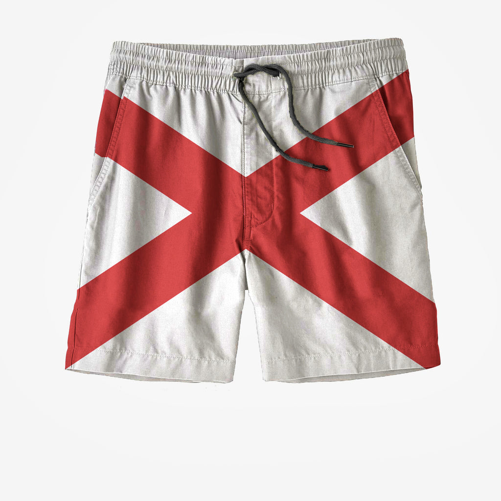Alabama State Flag Swim Trunks