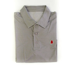 Alabama Tuscaloosa Microstripe Performance Polo Grey