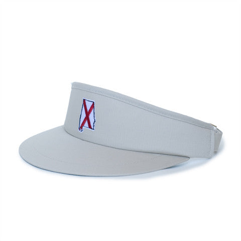 Alabama Traditional Golf Visor Khaki