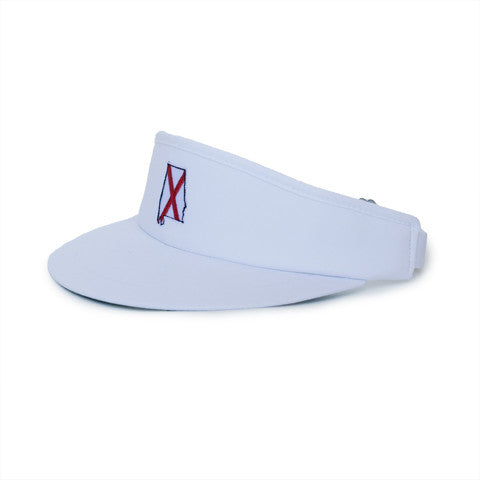 Alabama Traditional Golf Visor White