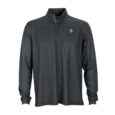 Alabama Traditional Herringbone 1/4 Zip Pullover Charcoal