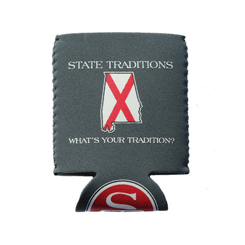 Alabama Traditional Koozie Grey