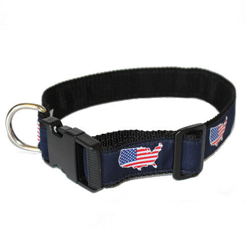 America Traditional Dog Collar Navy