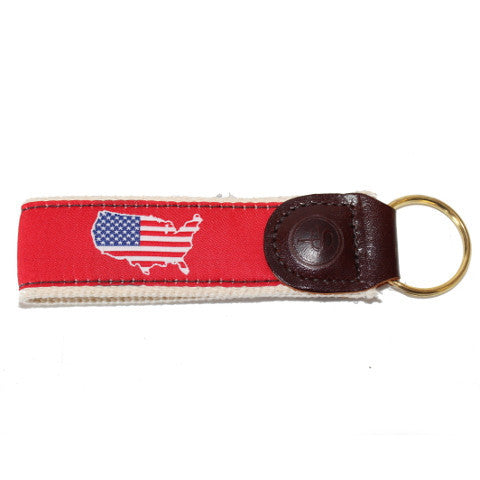 America Traditional Key Fob Red