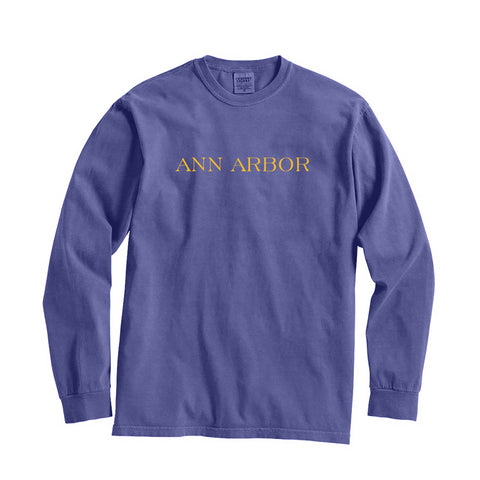 Michigan Ann Arbor City Series Long Sleeve T-Shirt