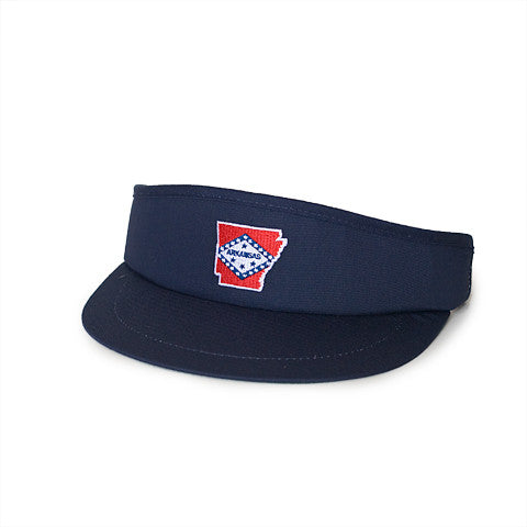 Arkansas Traditional Golf Visor Navy