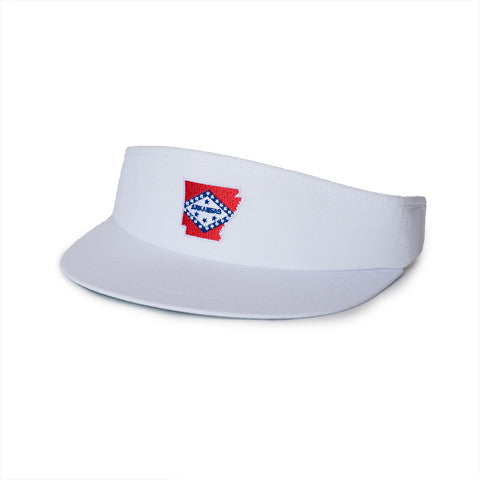 Arkansas Traditional Golf Visor White