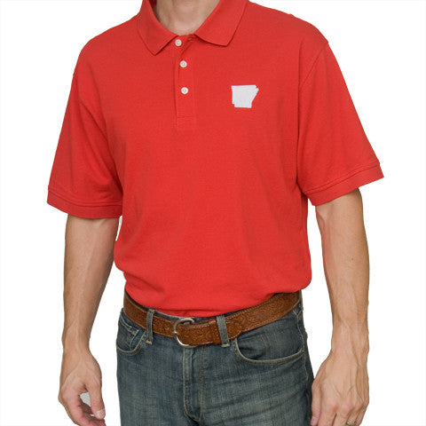 Arkansas Fayetteville Gameday Polo Red