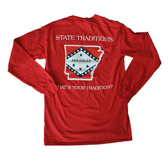 Arkansas Traditional Long Sleeve T-Shirt Red