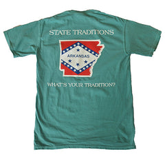 Arkansas Traditional T-Shirt Seafoam