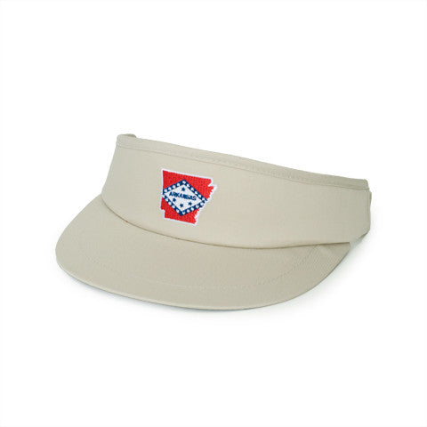 Arkansas Traditional Golf Visor Khaki