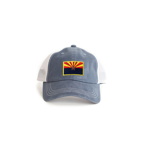 Arizona Flag Trucker Hat Blue