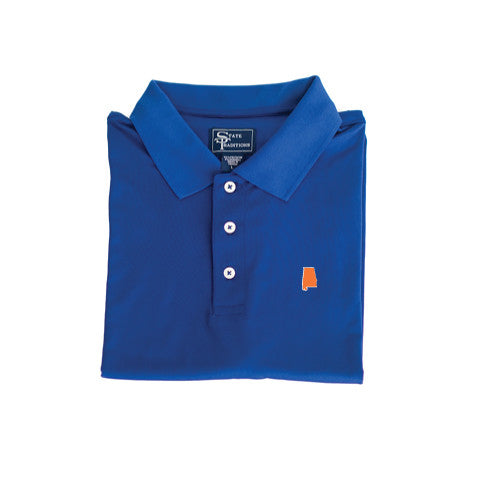 Alabama Auburn Clubhouse Performance Polo Blue