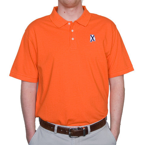 Alabama Auburn Traditional Polo Orange