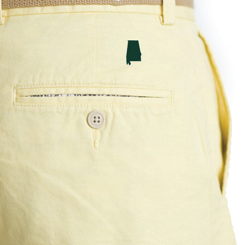 Alabama Birmingham Gameday Coastline Shorts Yellow