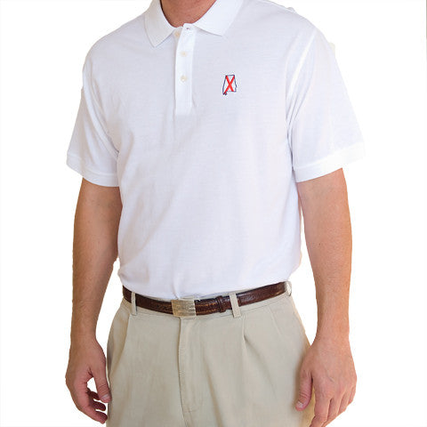 Alabama Traditional Polo White