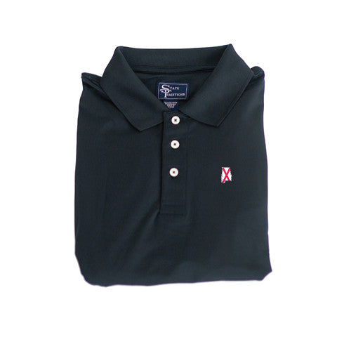 Alabama Traditional Clubhouse Performance Polo Black